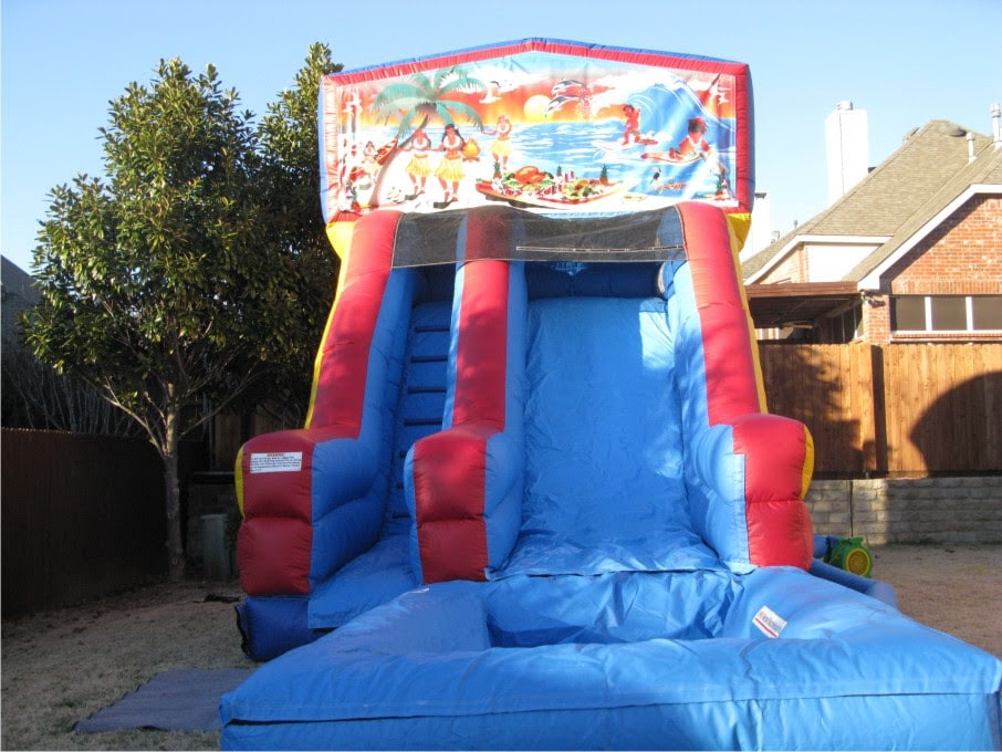 Luau Water Slide Jump Houses Dallas