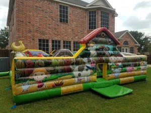 little-farm-baby-inflatable-rental-sideview