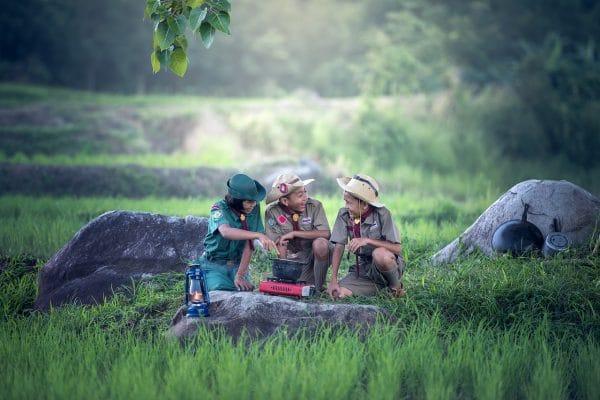 backyard-camping-with-school-mates