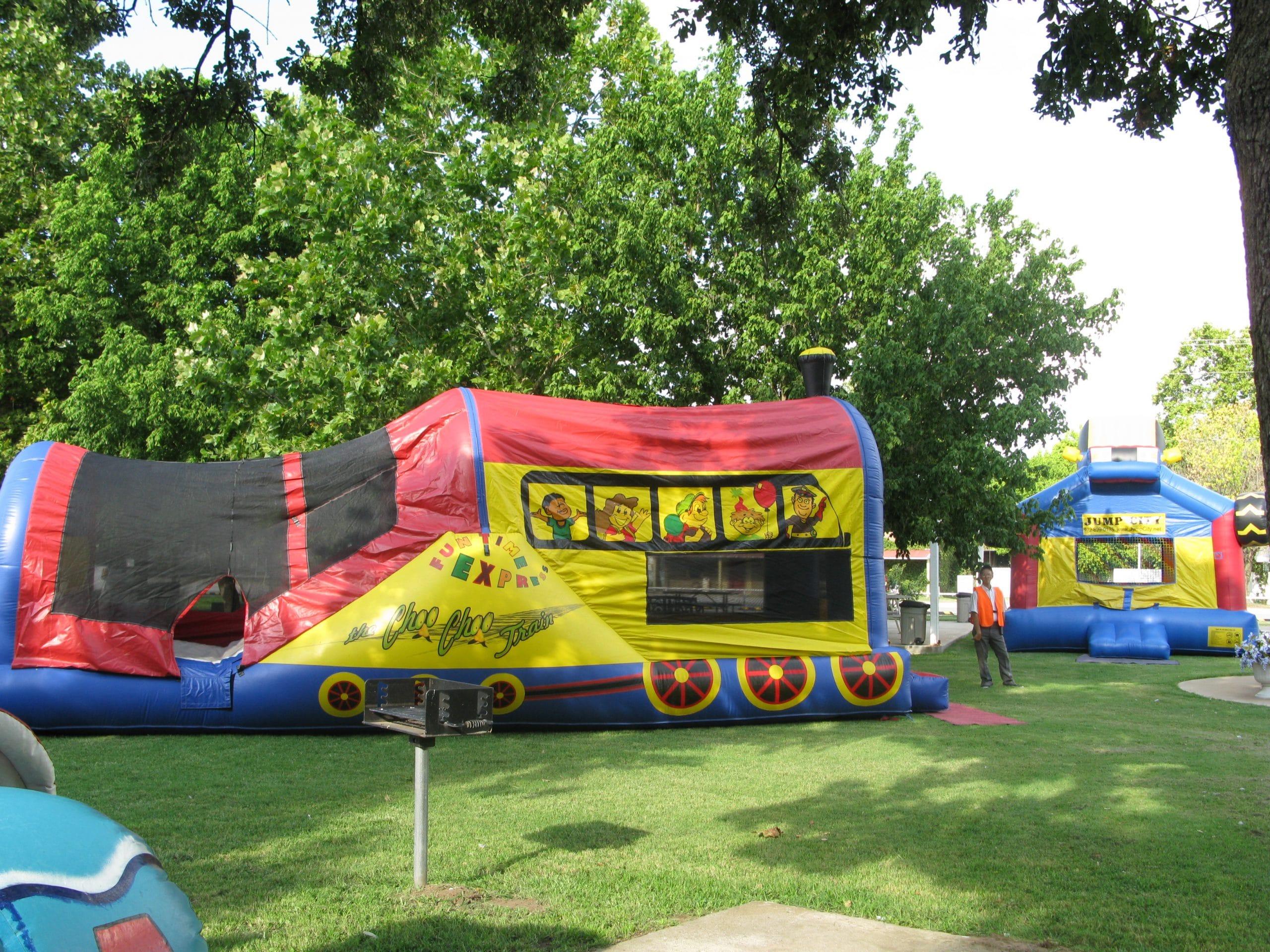 Train Slide Combo Jump Houses Dallas