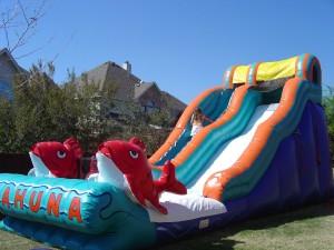 big kahuna water slide inflatable rental in the sun