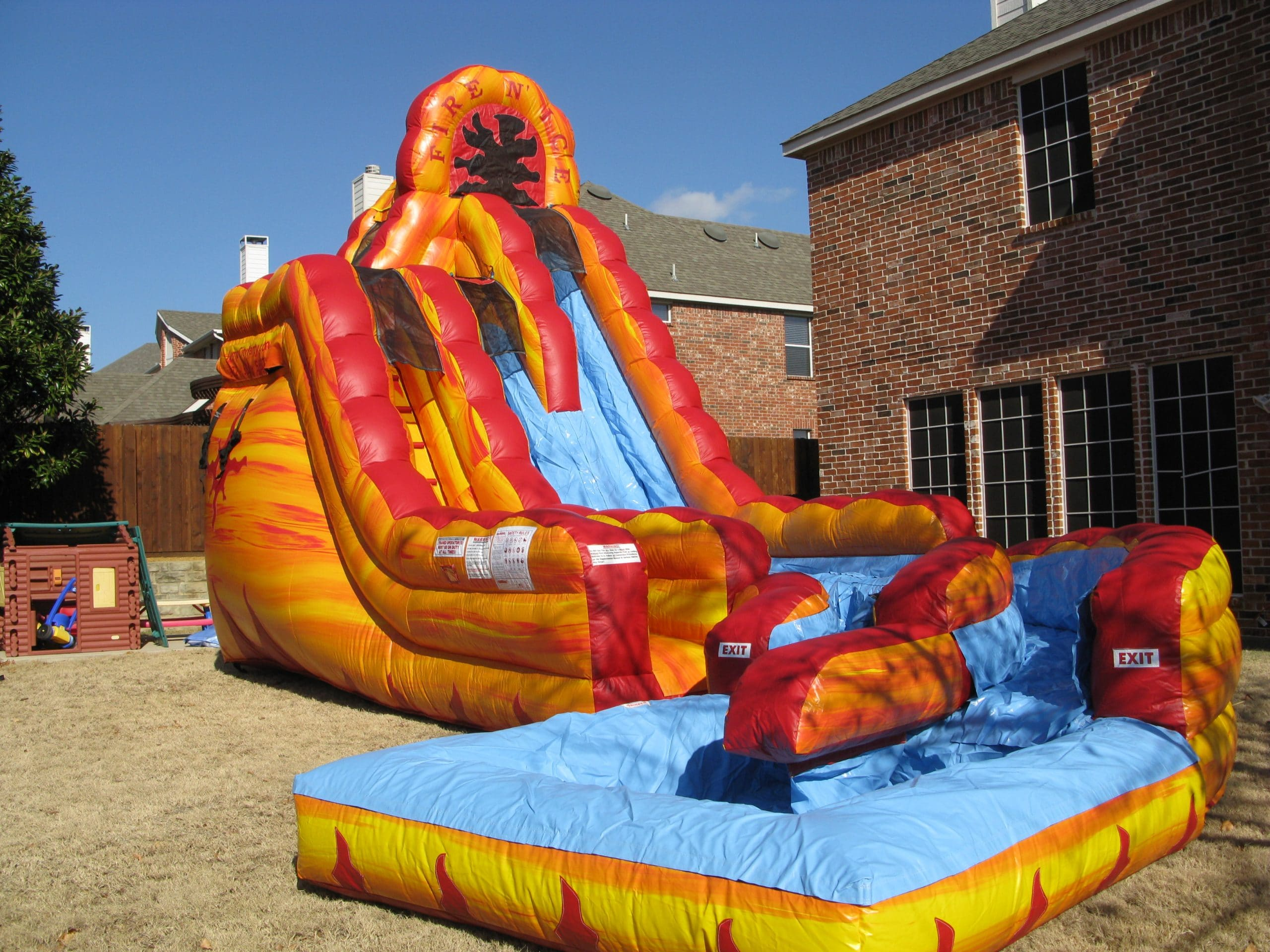 Fire N Ice Water Slide Jump Houses Dallas