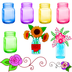 colorful-jars