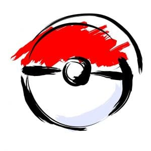 red white and black colored pokemon ball