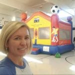 sports arena bounce house indoors