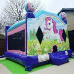 unicorn bounce house combo rental