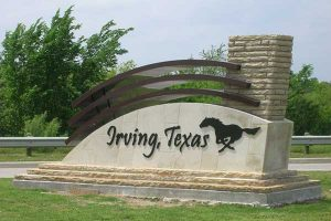 irving texas sign